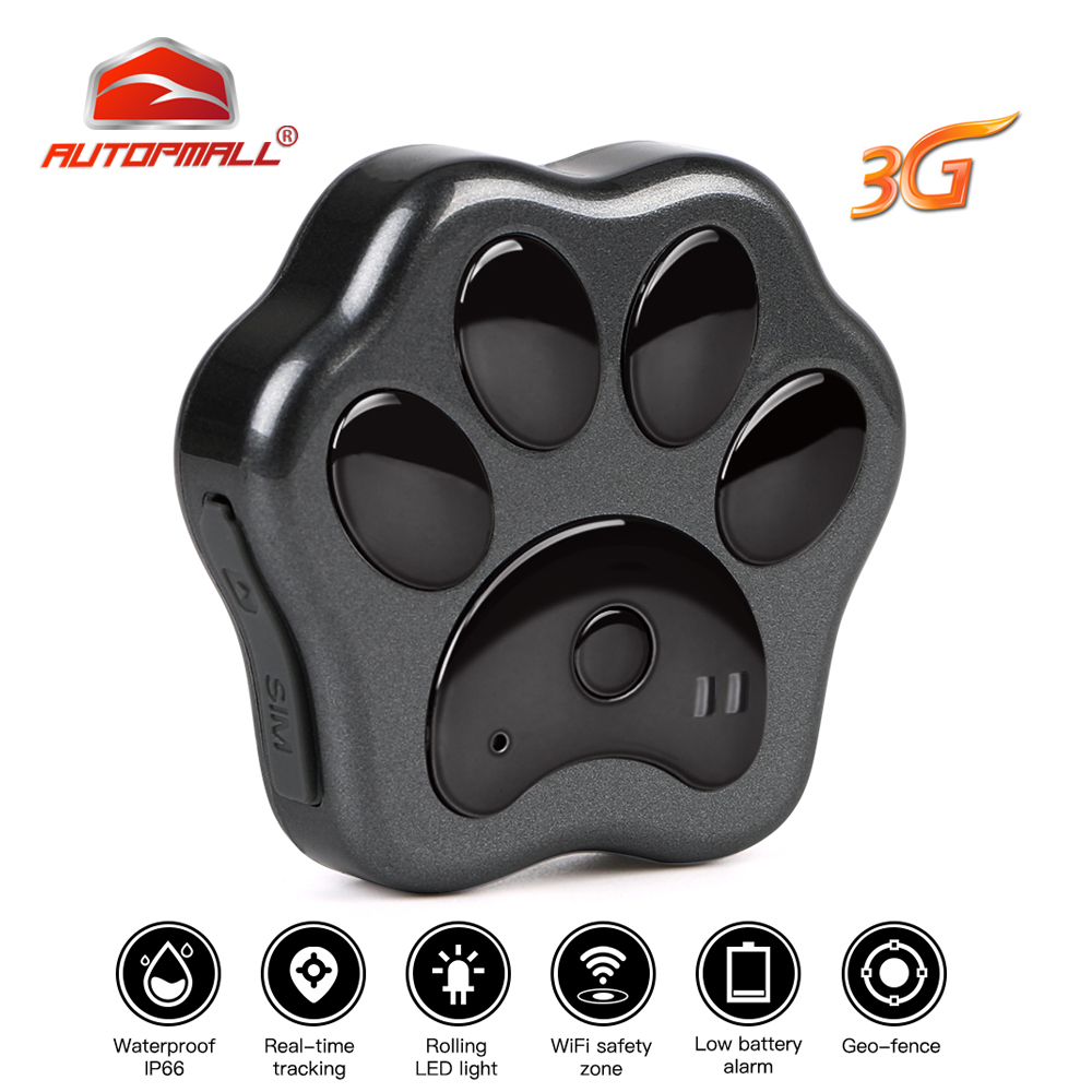 Hot 3G GPS tracker Cat Dog Pet Locator Real-time Tracking Waterproof WCDMA Tracker Geo-fence Free Web APP