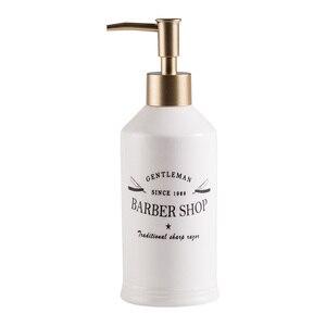 Image 5 - 420ml Nordic Ceramic Emulsion Empty Bottle Soap Dispenser Bathroom Liquid Soap Dish Hotel Club Hand Sanitizer Shower Gel Shampoo