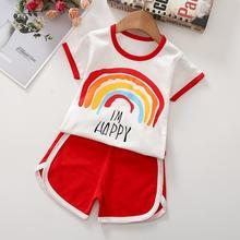 0-3 Years Old Men and Women Baby T-shirt New Children's Clothing Summer Short-sleeved Children's Suit Cotton Cute T-shirt Suit british style old tree and single wolf pattern t shirt for men m