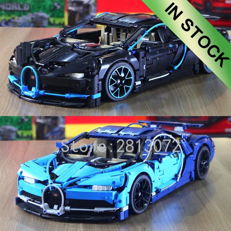 20086 In Stock Supercar Bugattis Blue\Red\Black Technic 42083 3625Pcs  20097 20003 93018 23006 Model Building Blocks Bricks Toys