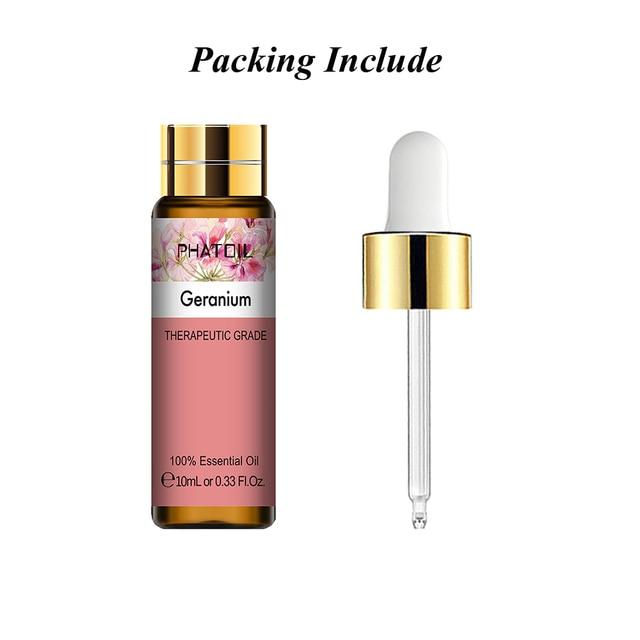 10ML Geranium Essential Oil Diffuser Pure Natural Rosemary Cinnamon Bergamot Tangerine Grapefruit Cedarwood Aroma Essential Oils 6