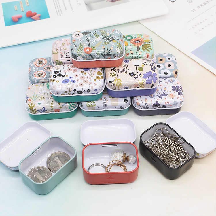 Mini caixa de lata colorida selada caixas de embalagem do frasco joias, caixa de doces pequenas caixas de armazenamento latas brincos de moeda, fones de ouvido caixa de presente
