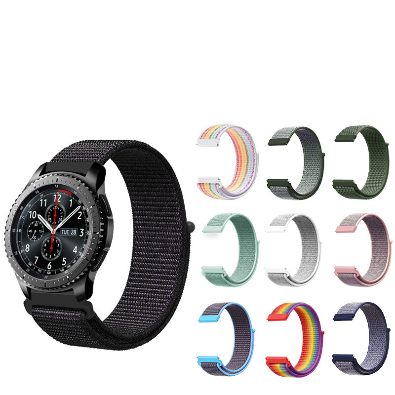 NEW <font><b>20mm</b></font> 22mm Nylon Sport Loop Strap Replacement <font><b>Band</b></font> For <font><b>Garmin</b></font> Vivoactive 3 Samsung Gear S2 S3 Galaxy Watch Active watchbands image