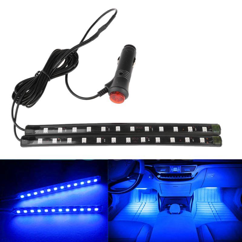 Новый Белый 2X12 светодиодный декоративный неоновый светильник для салона автомобиля