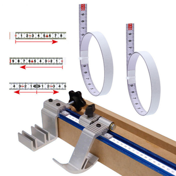 1/2/3/5M Self Adhesive Miter Saw Track Tape Measure Backing Metric Steel Ruler Tape Measurements Sticky Rule Woodworking Tool 1m miter track tape measure self adhesive metric steel ruler miter saw scale for router table saw band saw woodworking tool