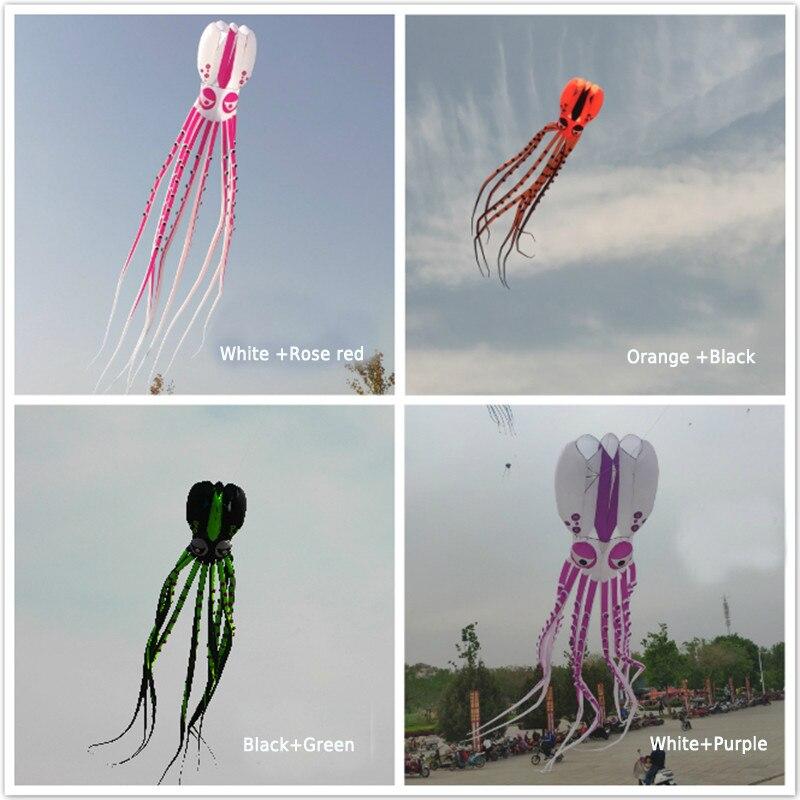Livraison gratuite haute qualité 20m pieuvre cerf-volant pendentif grand doux cerf-volant ripstop nylon tissu cerf-volant ligne ma laosi marche dans le ciel