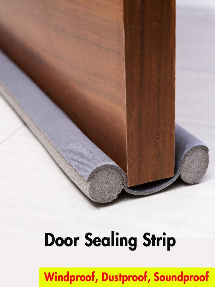 Door Bottom Seal Strip Window Gap Block Glue Crack Tape Door Windshield Paste Insulated Dustproof Windproof Article