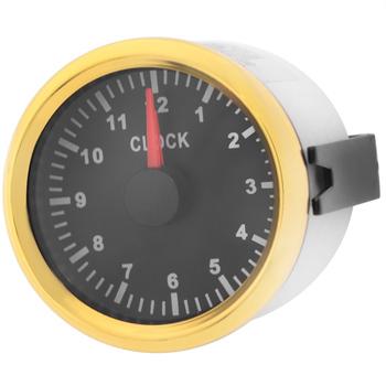 Automatyczne mierniki godzin 0 ~ 12 godzin dla łodzi jachtu samochodowego 52mm wskaźniki zegarowe czerwony podświetlany Instrument pokaż mierniki zegarowe 9-32V tanie i dobre opinie ACCESTING CN (pochodzenie) Stainless steel waterproof gauge hour meter gauges 0 2kg 6 5cm Clock Meter with red backlight
