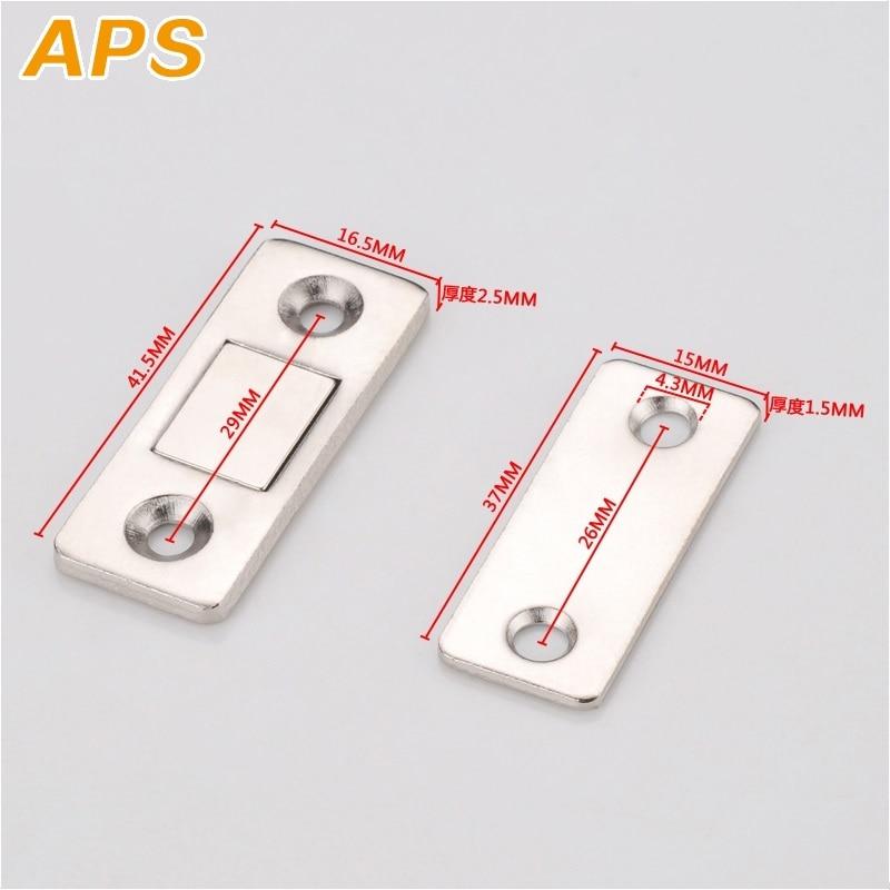 2pcs/Set Strong Door Closer Magnetic Door Catch Latch Door Magnet For Furniture Cabinet Cupboard With Screws Ultra Thin