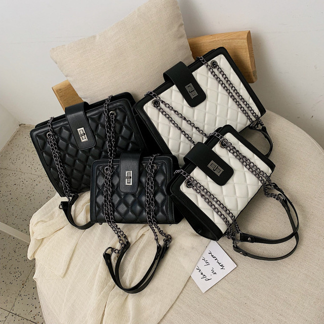 Women Leather Handbags Vintage Female Shoulder Bag Ladies Desinger Large Tote Bags for Girl Crossbody Bags Black Bag bolso mujer 2