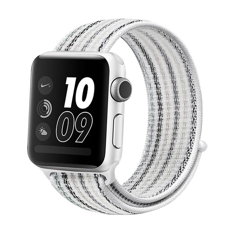 Для наручных часов Apple Watch, версии 3/2/1 38 мм 42 мм нейлон мягкий дышащий нейлон для наручных часов iWatch, сменный ремешок спортивный бесшовный series4/5 40 мм 44 мм - Цвет ремешка: stripe 1