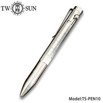 TWOSUN TC4 Titanium Alloy Writing pen Tactical  Business Office Signature Pocket Pen Portable EDC G2 tip TS-PEN10