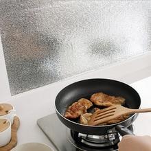 2/3 m estufa de pared de cocina de aluminio a prueba de aceite pegatinas impermeables Anti-fouling de alta temperatura auto- etiqueta de la pared