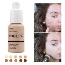 Новый матовый консилер для контроля жирности жидкий Phoera Foundation поддон тени для макияжа Pallete Far Paleti Sombras основа для ухода за кожей лица