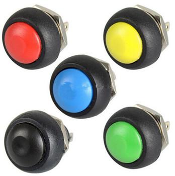 Wyłącznik włącznik przyciskowy włącznik klaksonu PBS-33B 12mm okrągły guzik przełącznik przyciskowy chwilowy automat do gry tanie i dobre opinie Pchacz 6 lat CN (pochodzenie) Switches