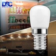 Lâmpada de geladeira led e14 3w geladeira milho lâmpada ac 220v led branco/branco quente smd2835 substituir luzes do candelabro halogênio