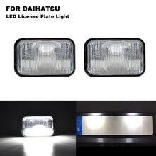 2PCS Canbus LED White License Plate Light Lamps For Daihatsu WAKE LA700S / LA710S CAST LA250S CHIFFON Toyota PASSO M700A / M710A