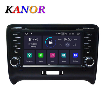KANOR 2 Din Android 9.0 2+16g Car Multimedia DVD Player For Audi TT Autoradio Stereo Bluetooth Head Unit GPS Navigation