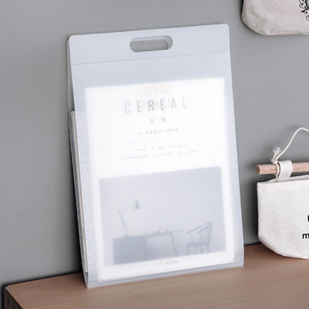 Candy Color A4 6P Folder Storage Bag Expanding Wallet Pastel Cookies Portable Style  Simple Waterproof Portable Folder