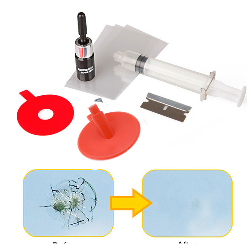 Car Windshield Repair Kits Glass Windscreen  Restore Repairing Tools DIY Restore Window Screen Smooth Surface  For Chip Crack