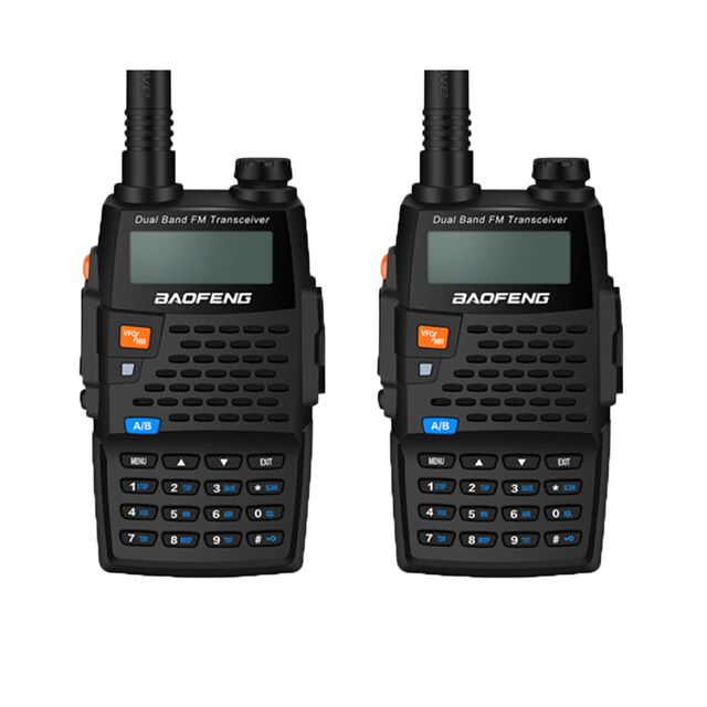 $ US $64.38 2PCS Baofeng Walkie Talkies UV-5R 4thGeneration Black Knight 136-174/400-520MHZ  Professional FM Transceiver With h