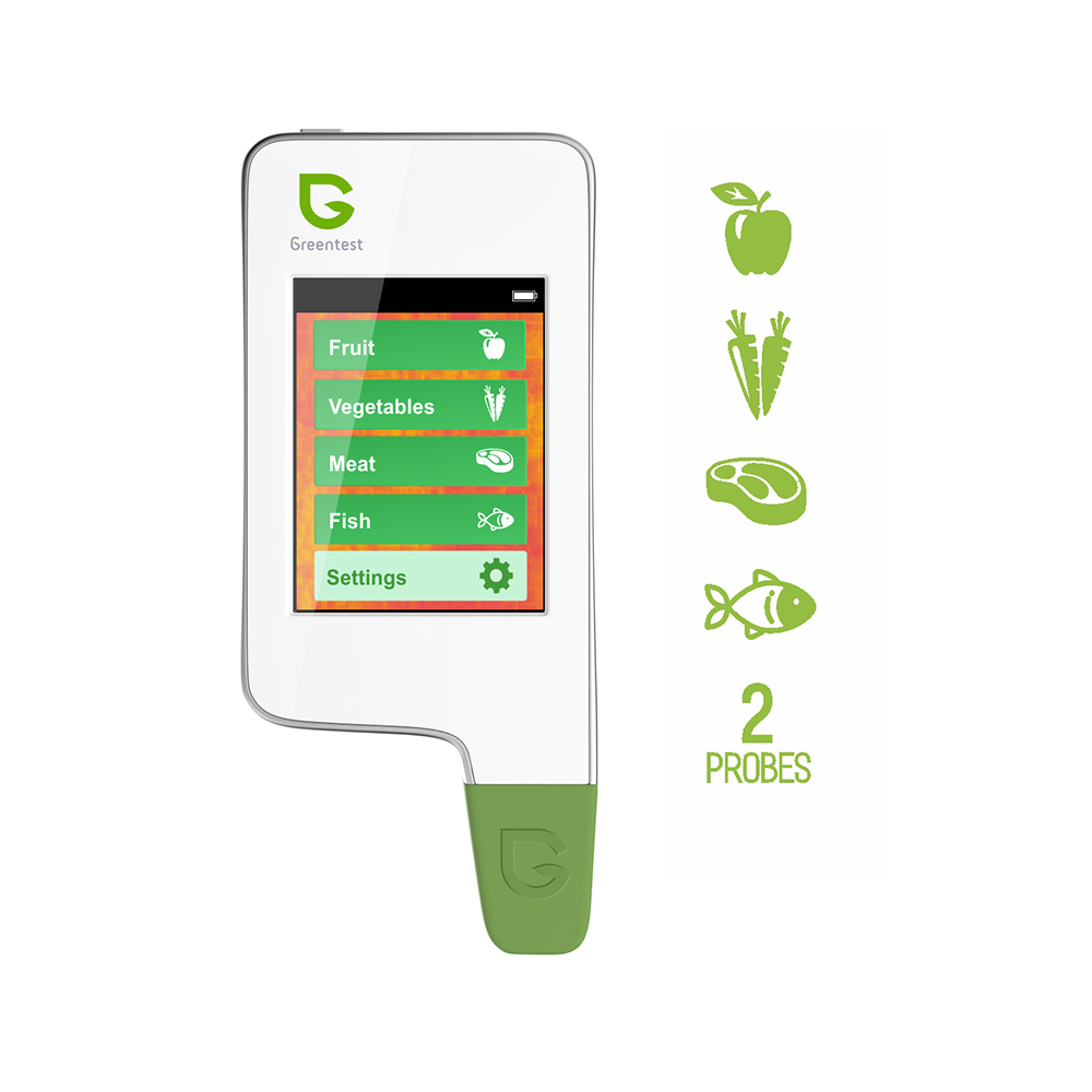 Meat Fish Nitrate Tester,Greentest-2F Nitrate Tester Kitchen Digital Food Detector Meat,Fish, Fruits And Vegetables
