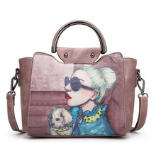 цена на Avatar print clutch bag new trendy shoulder messenger bag simple fashion portable small bag hand bags  women leather handbags