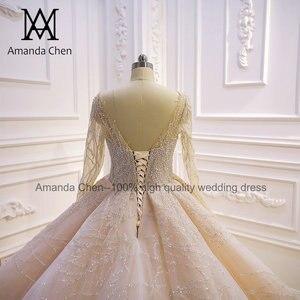Image 5 - Vestito da sposa robe de mariée luxueuse à manches longues, sur mesure
