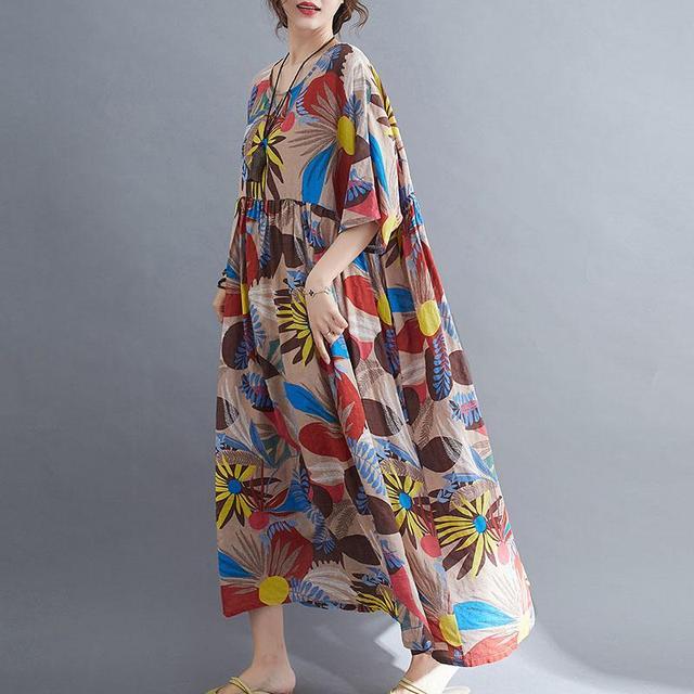 Plus Size Summer Beach Dress Women Floral Casual Oversized Ladies Dresses 4XL 5XL 6XL Vestidos Robe Femme Holiday Dress 2021 New 5