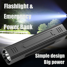 Super Bright T6 Torch High Power Rechargeable LED Flashlight PowerBank tactical Lantern sofirn 5-Mode Hunting Lamp Fishing Light