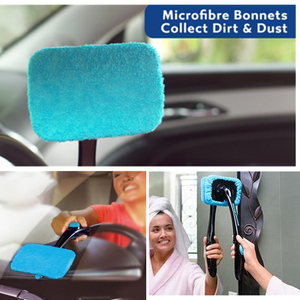 Car Water Spray Cleaning Brush Folding Hurricane Windshield Wizard Rotating Cleaning Brushes Glass Window Car Windscreen Cleaner(China)