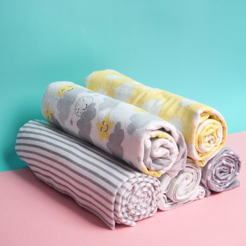4Pcs/Lot Baby Blanket Diaper Newborn Soft Muslin Baby Swaddle Photography Kids Muslin Blankets Wrap Play Mat 100% Cotton Flannel