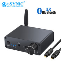 eSYNiC Digital to Analog Audio Converter Bluetooth 5.0 3.5mm Jack Audio Adapter Headphone Amplifier Volume Control 192kHz DAC