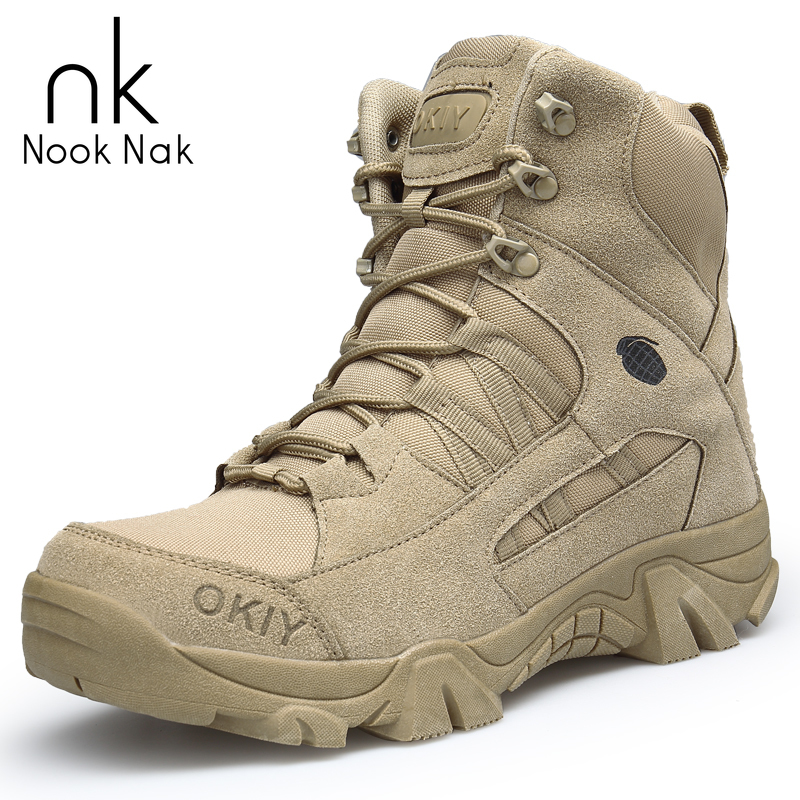Men Desert Military Tactical Boots Cow Suede Outdoor Sports Hiking Shoes Climbing Boots Wear-resisting Botas Masculina Big Size
