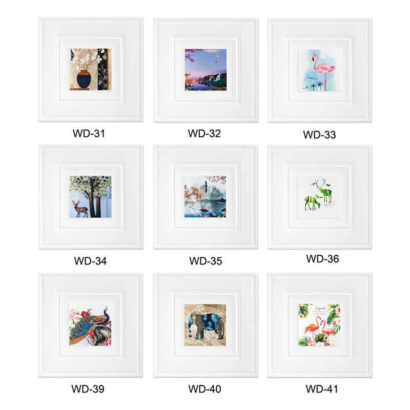 DIY papel tapiz de espuma impresión de carteles de plantas imágenes autoadhesivas decoración del arte decoración del hogar 8mm de espesor pegatinas de pared