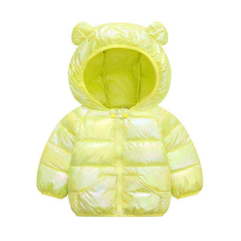 Children Solid Color Coat Boys Trendy Cotton Clothes Girls Fashion Hooded Outerwear Kids Casual Warm Jacket Kids Winter Clothes 3