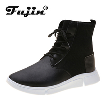 Fujin Butterfly-knot Women Sneakers Vulcanized Shoes Summer Spring Autumn Knitting Breathable Shoe Chunky Flat