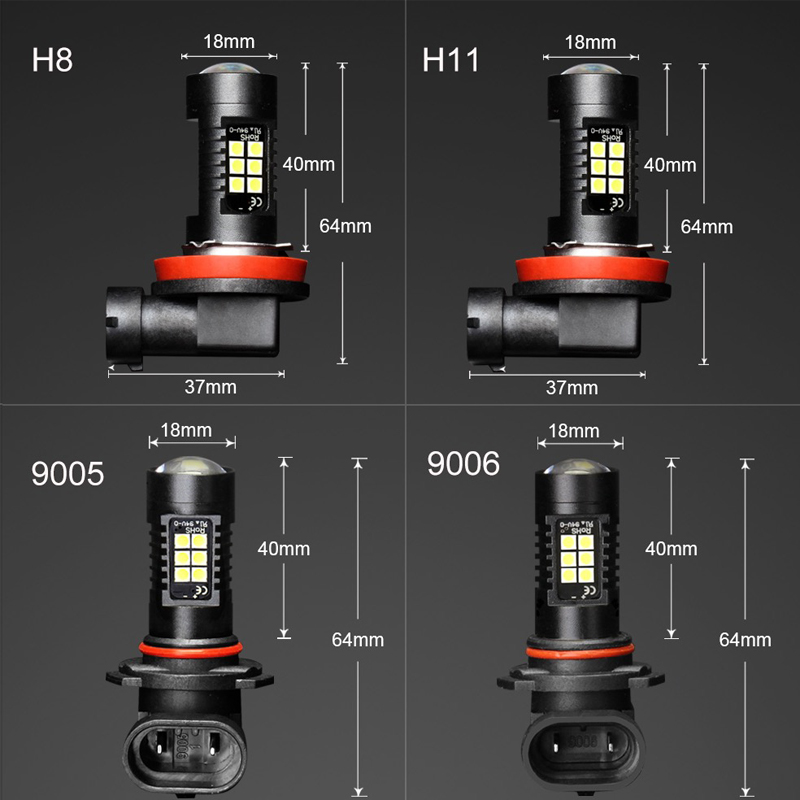 Image 5 - 2PCS LED Car Bulbs H8 H11 9005 9006 21 SMD 3030 Super Bright Auto Led Bulb Lamp 6000K Fog Light Cars Driving Lamp DRL-in Car Fog Lamp from Automobiles & Motorcycles