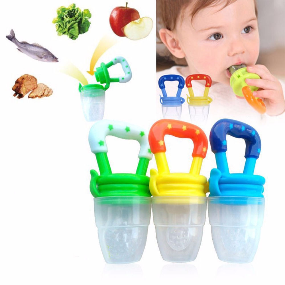 Newborn Infant Toddler Cute Lovely Babies Feeding Pacifier Baby Fresh Food Fruits Soup Feeder Dummy Soother Weaning Nipple Mulit