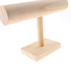 Image 5 - Unfinished Wooden Headband Holder Jewelry Display Stand Rack Organizer Holder for Home Shop Show