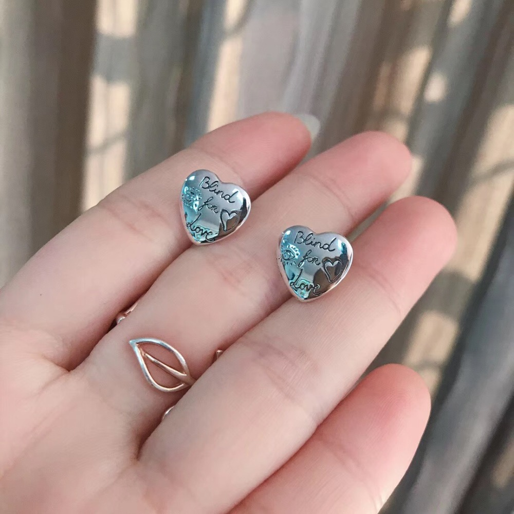1:1 original Double sign Love fearless Earring popular accessories sterling silver 925 jewelry woman The classical charm gift