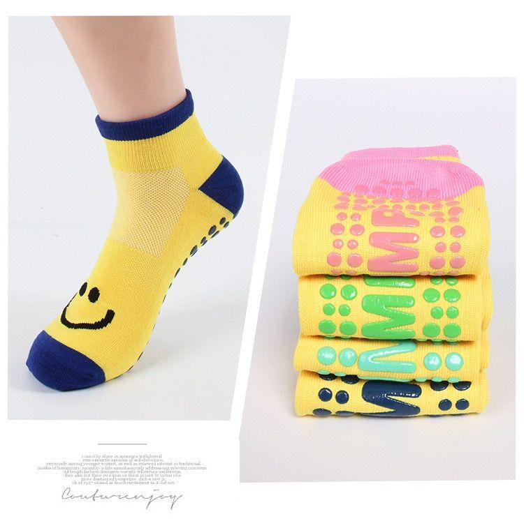 Autumn/Winter/Spring/Summer Thin And Breathable Non-slip Floor Socks Boy and Girl Towel Socks Home Socks Cotton Candy Color 1