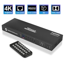KVM Switch 8 Port HDMI Switcher Up to 4K@60Hz Ultra HD Support USB2.0 IP Control Auto Scan Rackmount with 4 Pcs KVM cable 4K HD