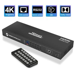 Image 1 - KVM Switch 8 Port HDMI Switcher Up to 4K@60Hz Ultra HD Support USB2.0 IP Control Auto Scan Rackmount with 4 Pcs KVM cable 4K HD