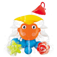 Hot Baby Bath Water Toy Games Blinking Crab Shower Faucet Waterwheel Play Bathroom Toys For Children Chritsmas/Birthday Toy(China)