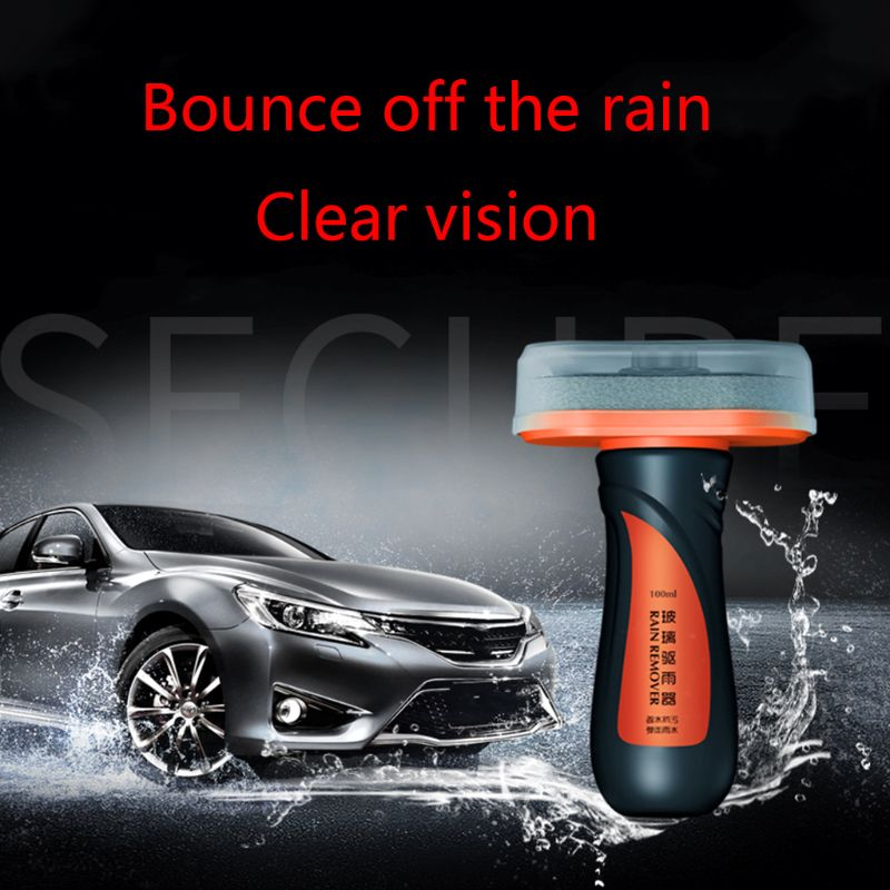 100ml Car Windshield Glass Coating Agent Hydrophobic Rain Mark Oil Film Remover