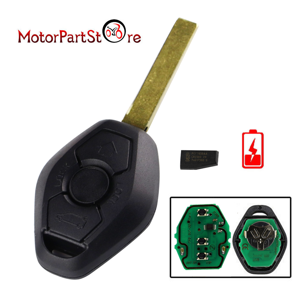 FLYPIG New Replacement 3 Button Remote Key 433mhz for BMW 3 5 7 SERIES E38 E39 E46 HU92 D10 image