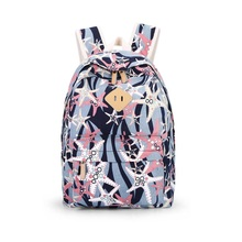 Best Selling Ladies Backpack Printing Starfish Canvas Breathable Backpacks new Printed Bag Middle School Student