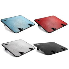 Metal Panel Dual Fan Notebook Cooler High Speed Silent Laptop Cooling Pad Slim Stand