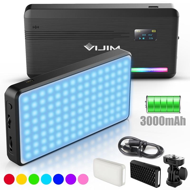 Light-Lamp Video-Light Vlog DSLR Smartphone Vijim Vl196 Photography Dimmable 2500K Rgb Led